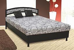 Čalouněná postel NIKOLA 140x200 cm Ekokůže černá / šedá