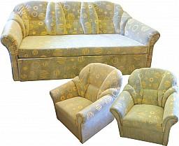 Klasická rovná sedací souprava MODENA LUX 3R+1+1 Candelwood zelená