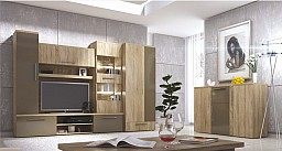 Moderní velká obývací sestava IMPERIAL - dovážena v montu Dub Sonoma / cacao