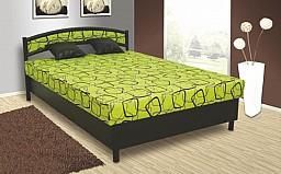Čalouněná postel NIKOLA 140x200 cm Ekokůže černá / zelená