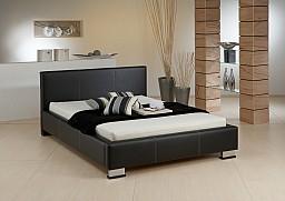 Postel LEONARDO bez matrace 140 x 200 cm Ekokůže černá