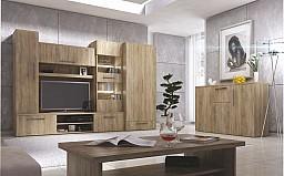 Moderní velká obývací sestava IMPERIAL - dovážena v montu Dub Sonoma